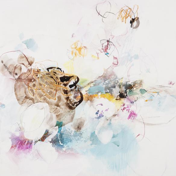 ...im Juni zerbricht ein klarer Libellenflügel in hellgrüner Luft...