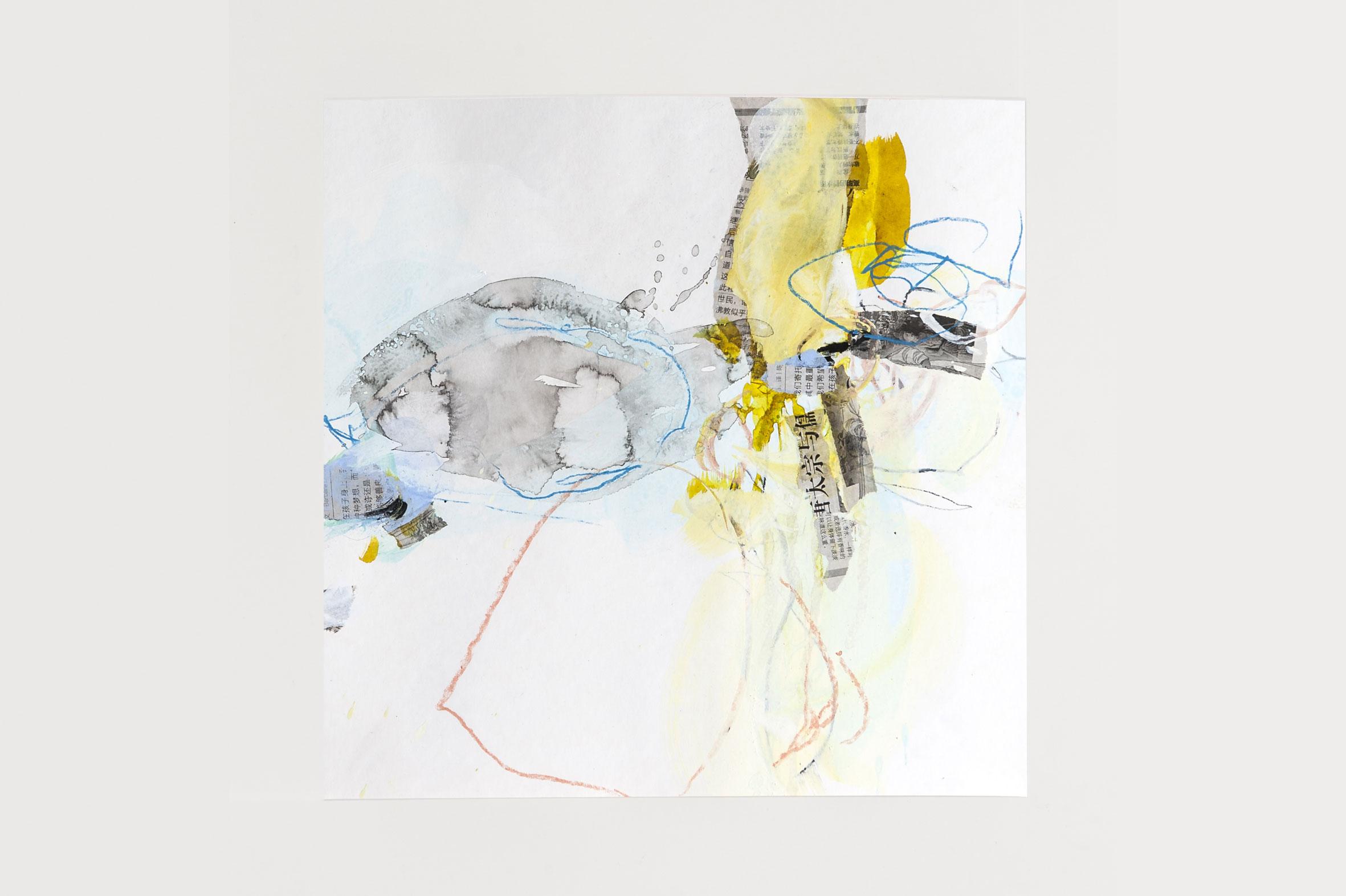 o.T., 40 cm x 40 cm, Mischtechnik auf Papier, 2017